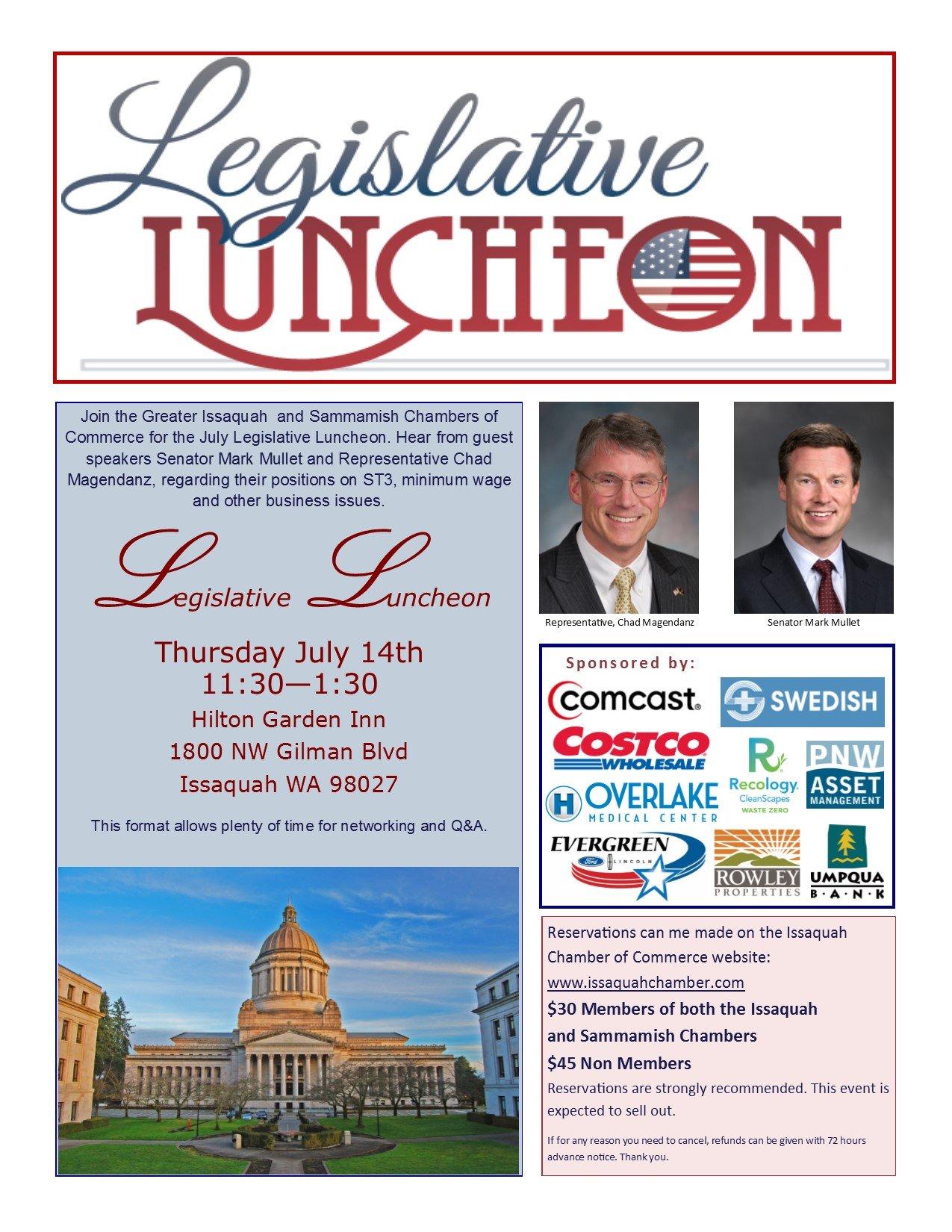 Legislative luncheon flyer
